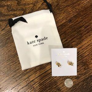 Kate Spade Gold knot earrings